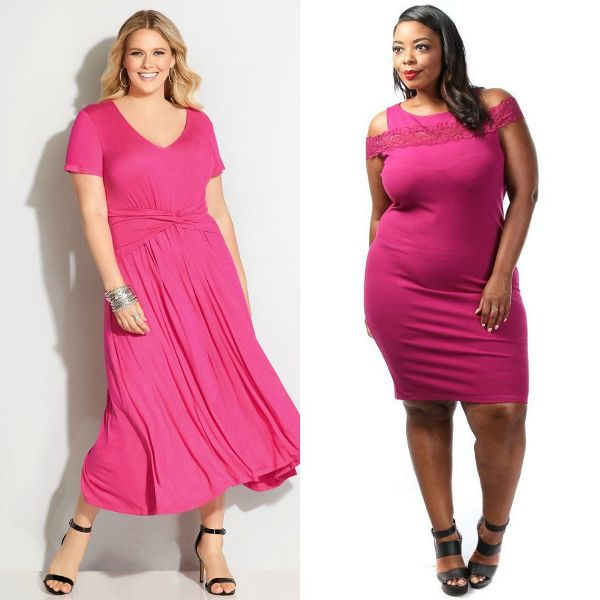 Plus size dresses | Pink dresses for women