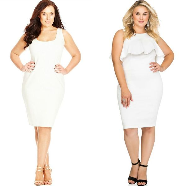 Plus size dresses | Plus size white dress