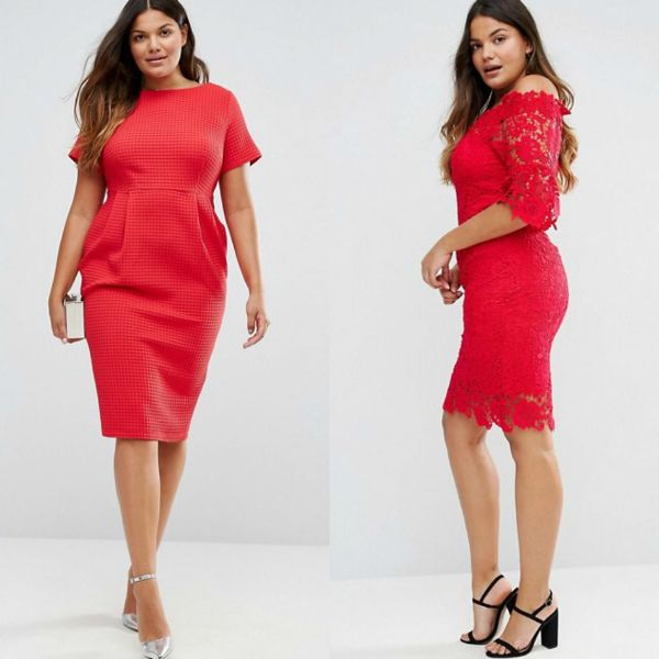 Plus size dresses | Red dresses