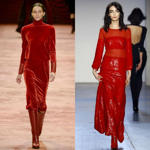 Fall-Winter 2016-2017 trendy dresses | Red Fall Winter 2016/17 trendy dresses for women