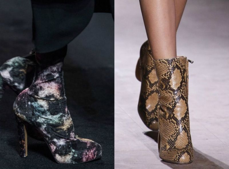 Shoes with prints