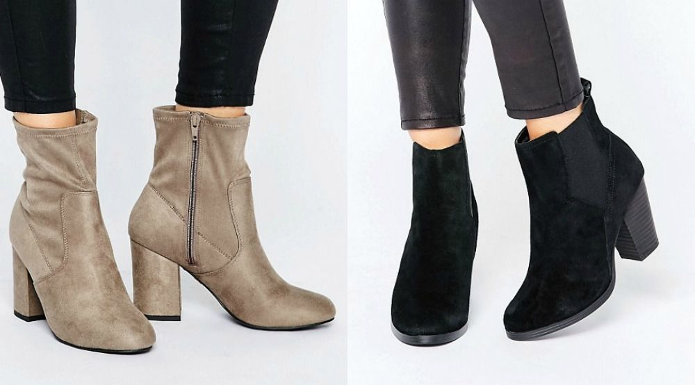 Suede booties for ladys