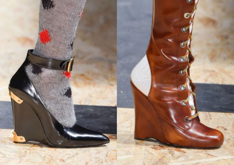 2016-2017 fall-winter shoe trends for womens wedges