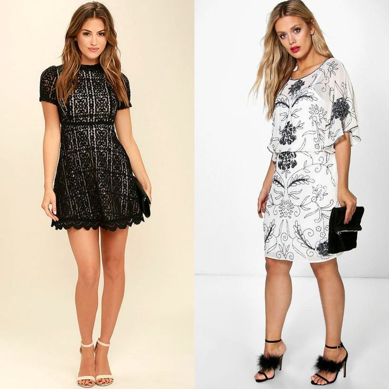 Party dresses | Black and white club dresses for women