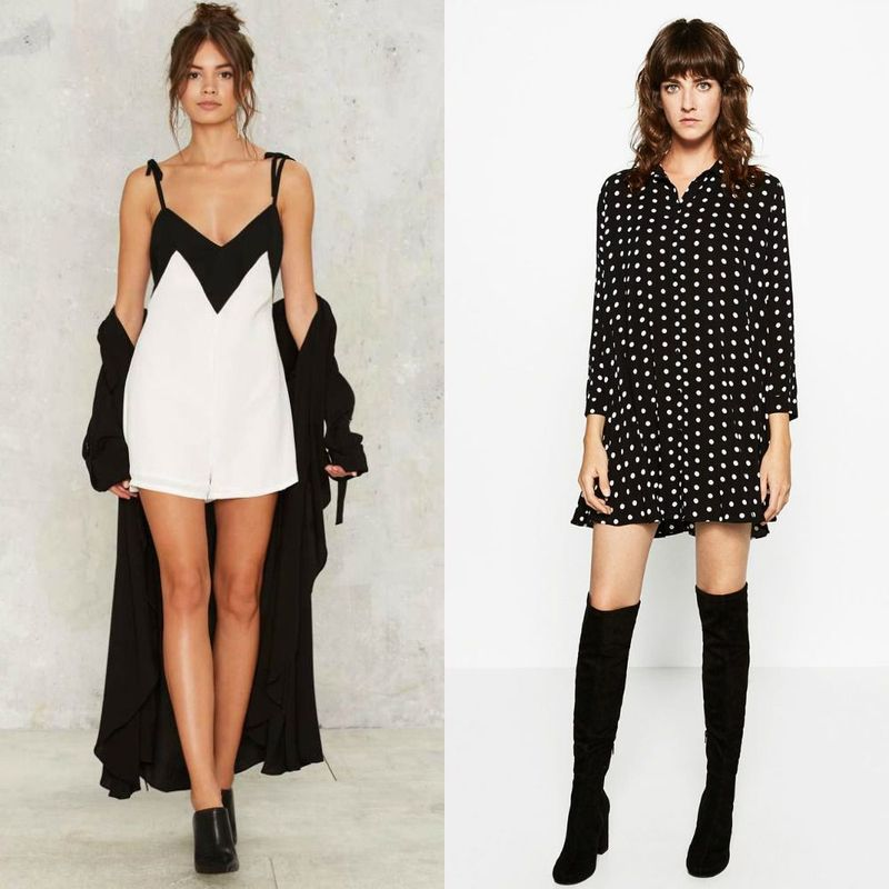 Party dresses | Black and white clubwear dresses for women