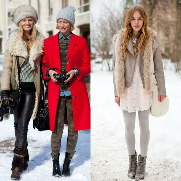 Winter cute snow outfits for ladies