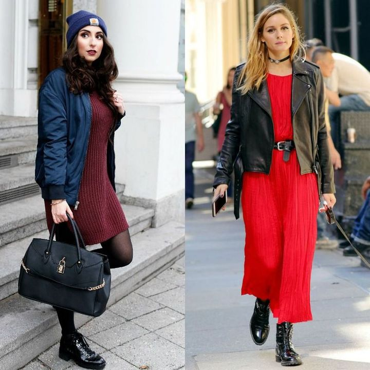 Dresses with boots for winter outfits