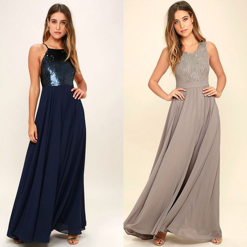 Elegant long cocktail dresses for women