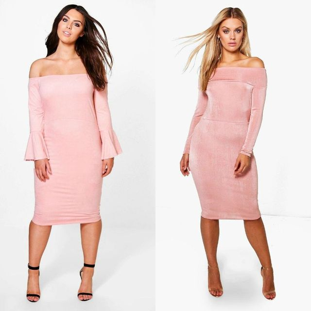 Outfits for curvy women with pink plus size dresses