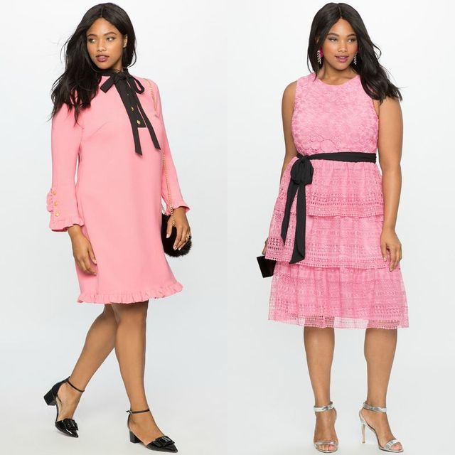 Plus size club outfits with pink dresses