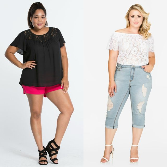 Plus size club wear with shorts