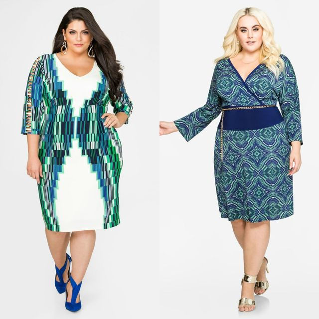 Club outfits with plus size dresses with long sleeves