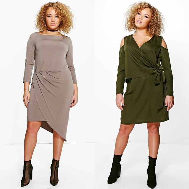 Outfits with plus size club dresses with long sleeves
