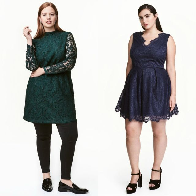 Plus size lace dress for women
