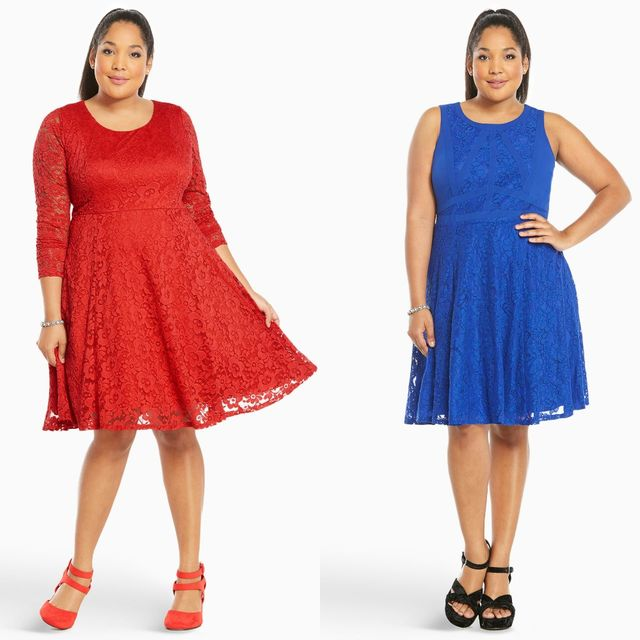 Plus size clubwear with lace dresses for women