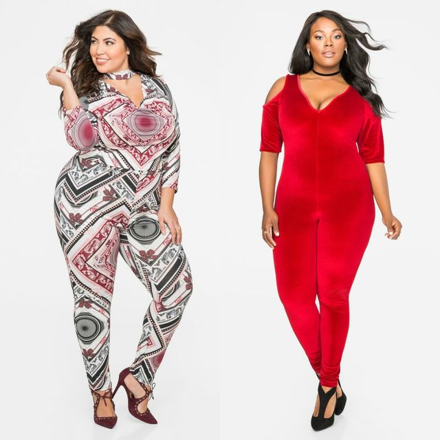 Plus size club outfits with jumpsuits
