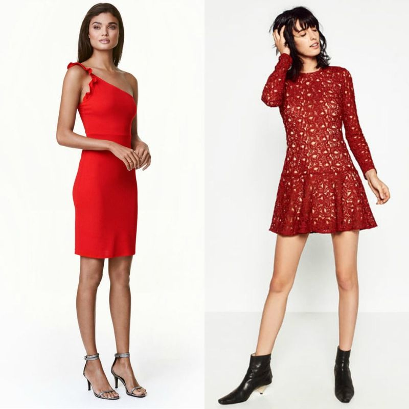 Short red cocktail dress