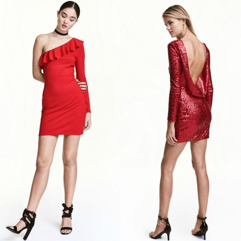 Party dresses | Short red party dresses for women