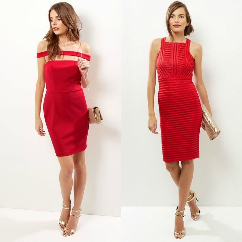 Red party dresses or red cocktail dresses