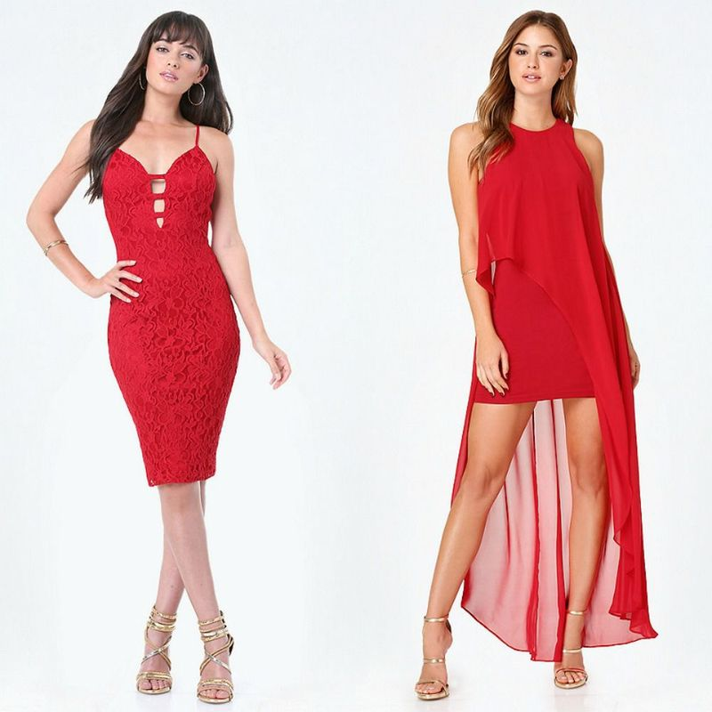 Party dresses | Beautiful red party dresses for women