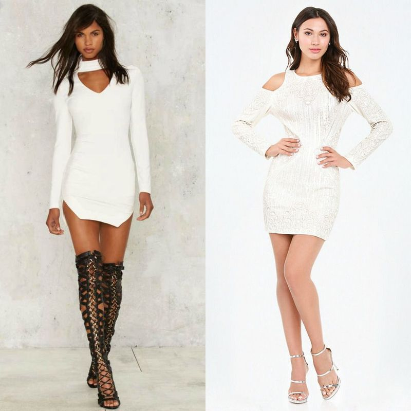 Party dresses | White club dresses for women