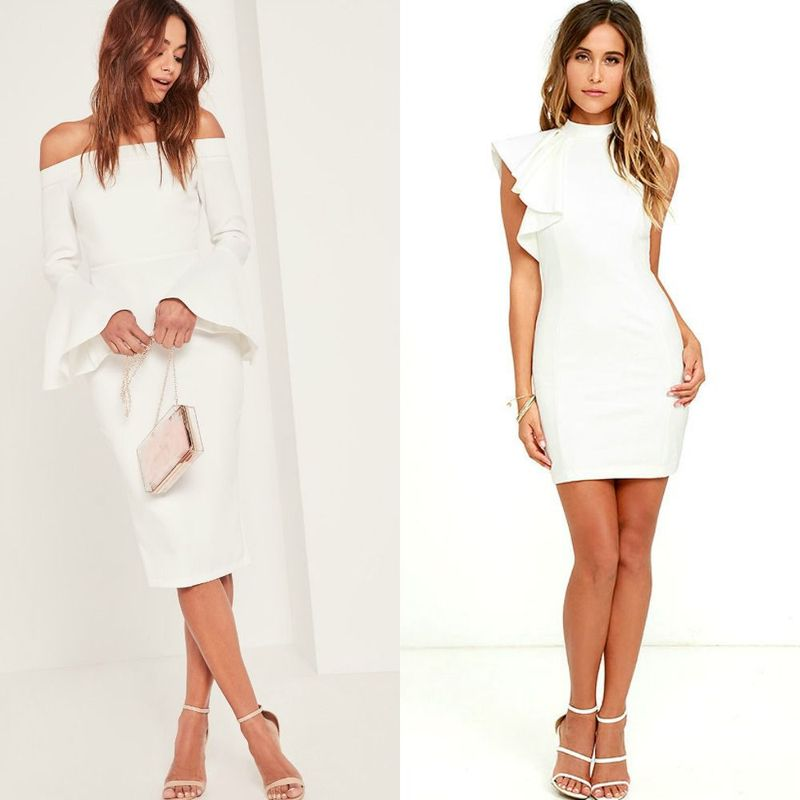 Sexy white cocktail dresses