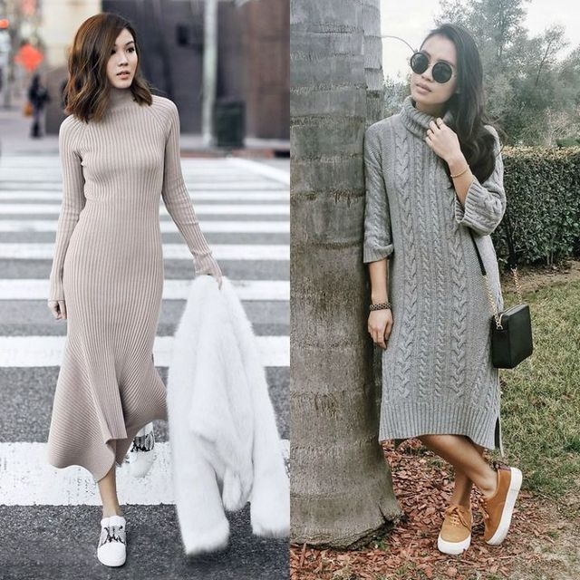 Cute winter outfits for ladies with dresses
