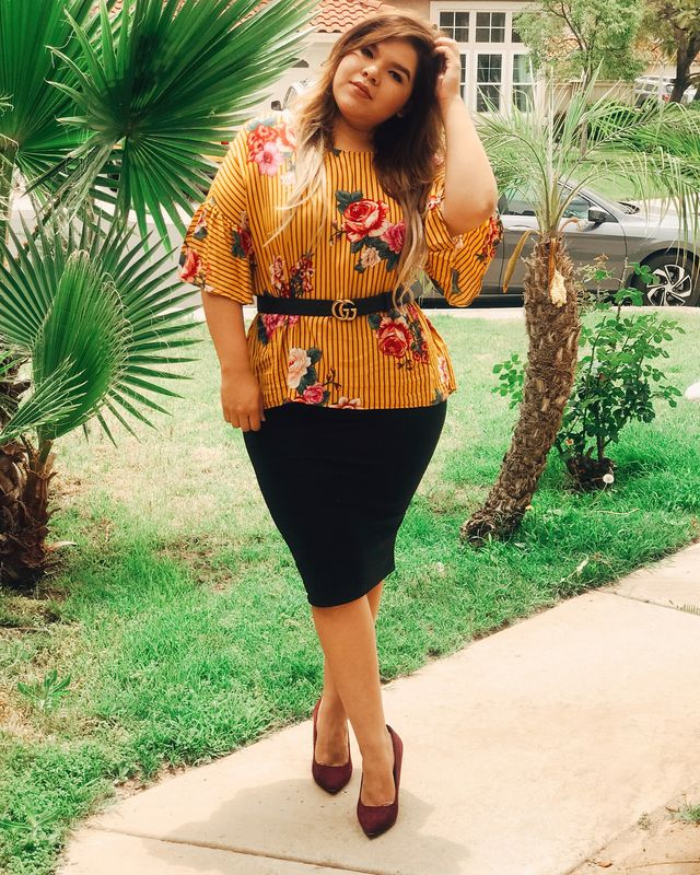 Black pencil skirt outfits | Pencil skirt outfit plus size