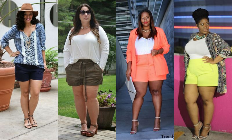 30 plus size shorts outfit ideas for beautiful curvy