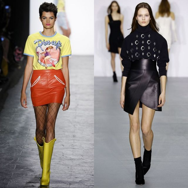 2017 Trends For Leather Winter Skirts