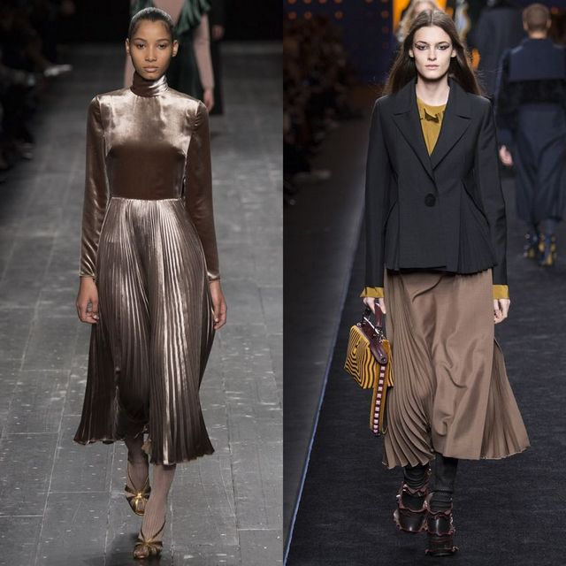 2017 Winter Trends Pleated skirts
