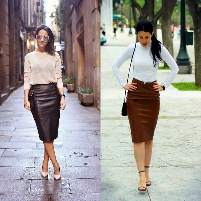 Ideas to Wear Leather Skirts in a Trendy Way