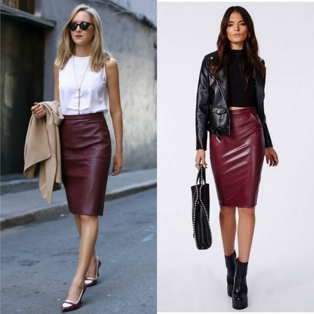 38 Best Ideas For A Leather Pencil Skirt Outfit | Style Tips ...