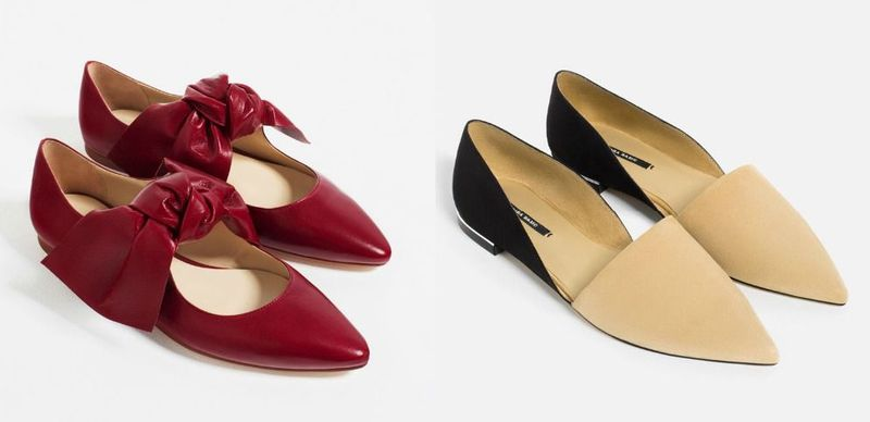 Pointed flat shoes for women