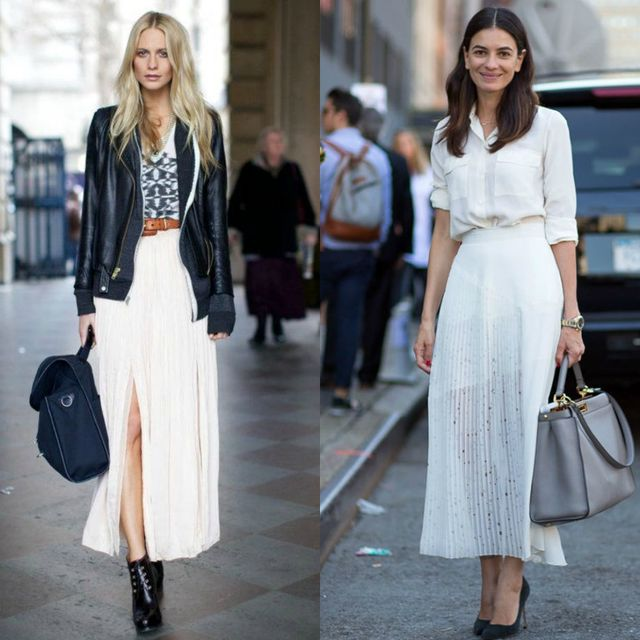 White skirt outfits | White maxi skirt outfits