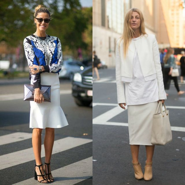 What to wear with a white skirt