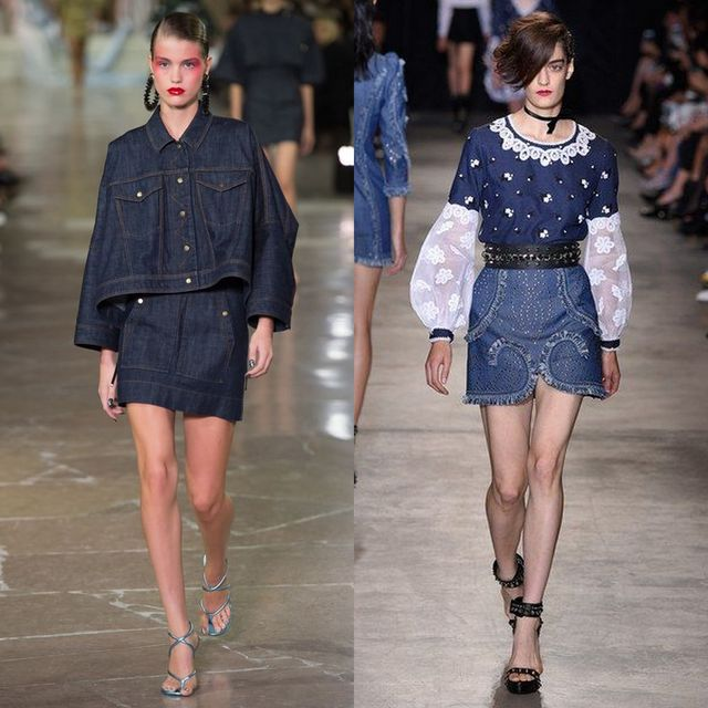 Spring Summer 2017 trends fro skirts | Denim is trendy in 2017