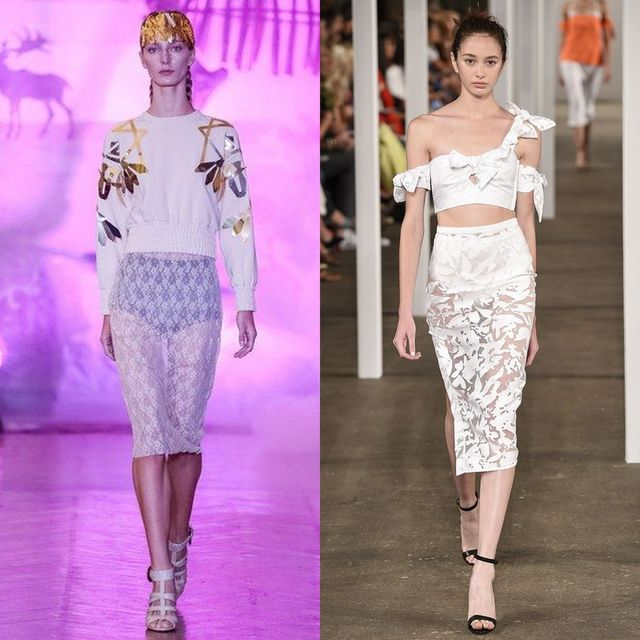 Spring Summer 2017 trends |  Transparent lace