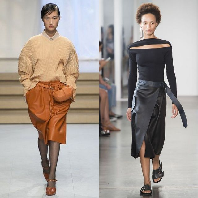 Be trendy and wear skirts made of faux leather