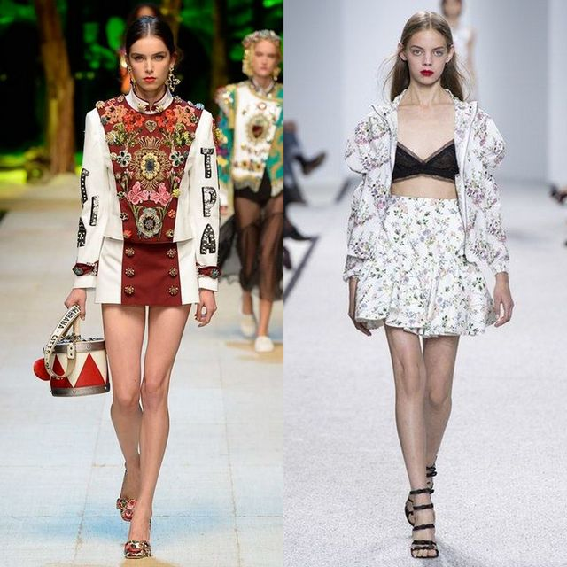 Spring Summer 2017 trends for mini skirts
