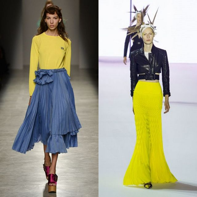Your skirt should be pleated this season to follow the trends