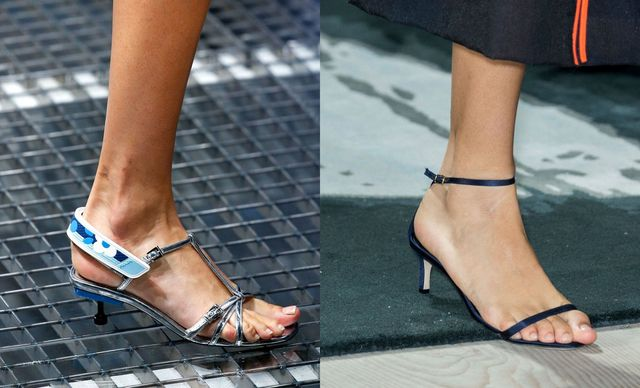 2017 Sandals Trends | Sandals with kitten heels