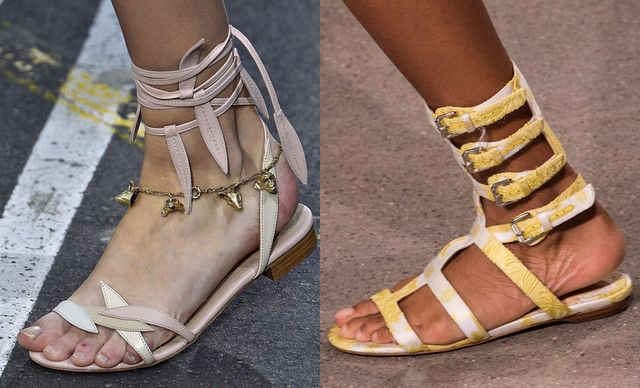 2017 Sandals Trends   Strappy flat sandals