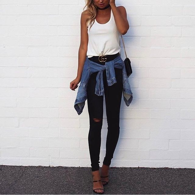 Jeans clubbing outfit