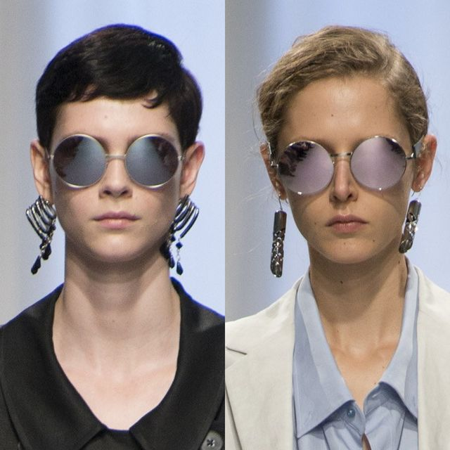 Jill Sander's mirrored sunglasses trends