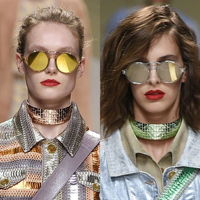 Trussardi's mirrored sunglasses trends