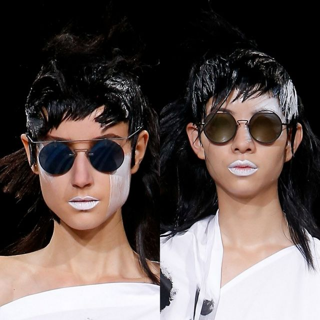 Yohji Yamamoto's trends for mirrored sunglasses