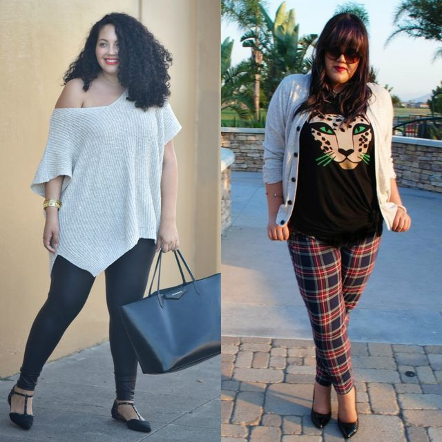 Spring plus size outfit ideas | Plus size outfit ideas with leggings for ladies