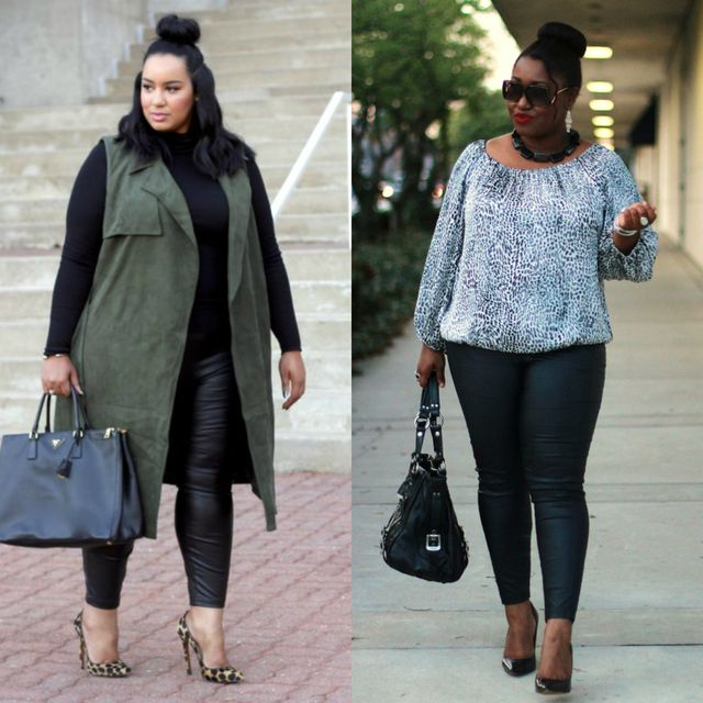 Spring plus size outfit ideas | Plus size outfit ideas with leggings for women