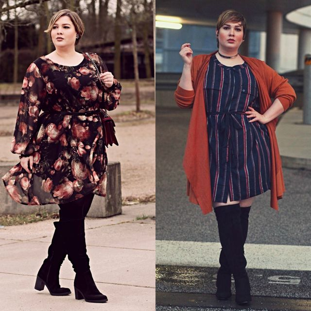 Spring plus size outfit ideas | Plus size spring outfit ideas with boots